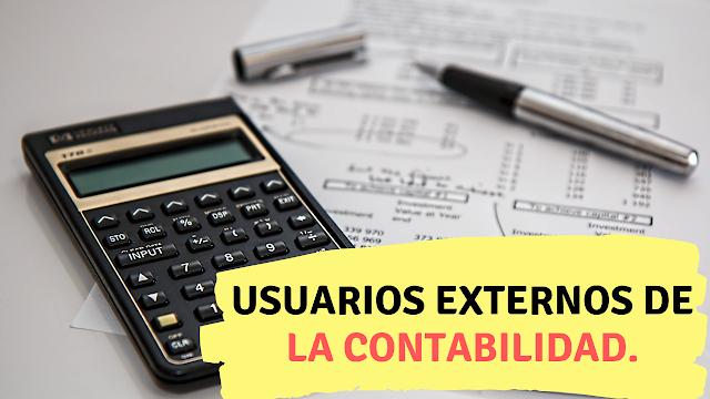 Usuarios Externos de la contabilidad.