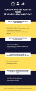 Infografia sobre el proceso de solicitud de acuse de recibido de declaracion del SAT - Contador Millennial.